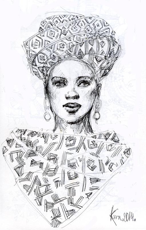511x801 Gallery African Women Sketch,