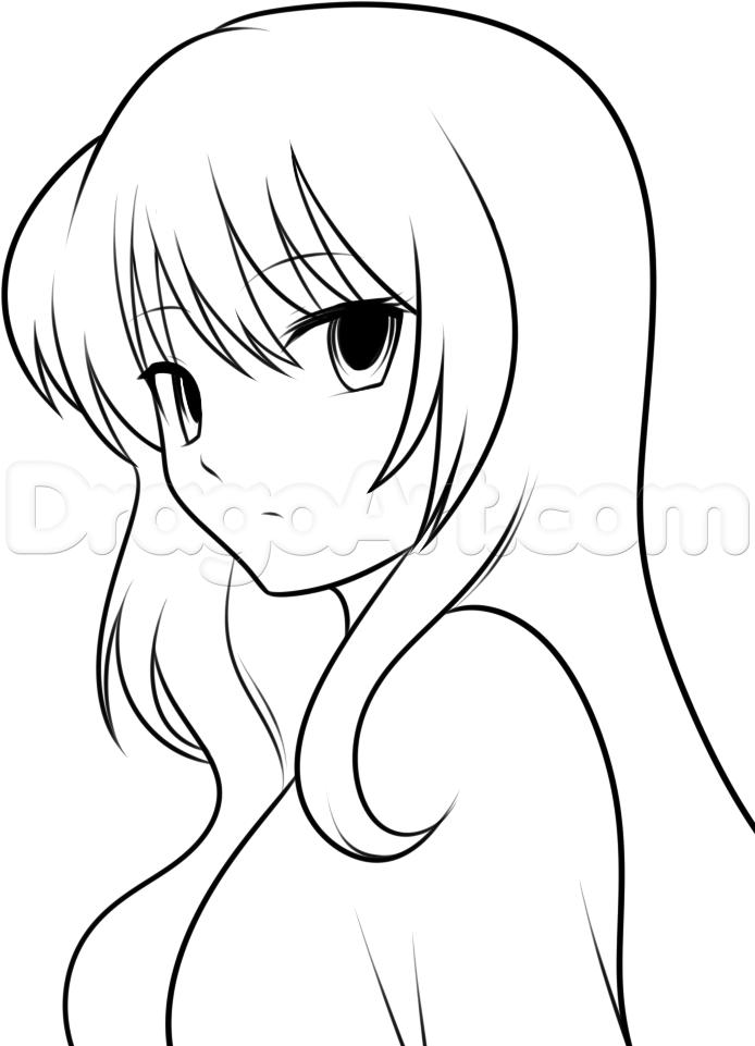 694x961 Photos Anime Girls Easy To Draw,