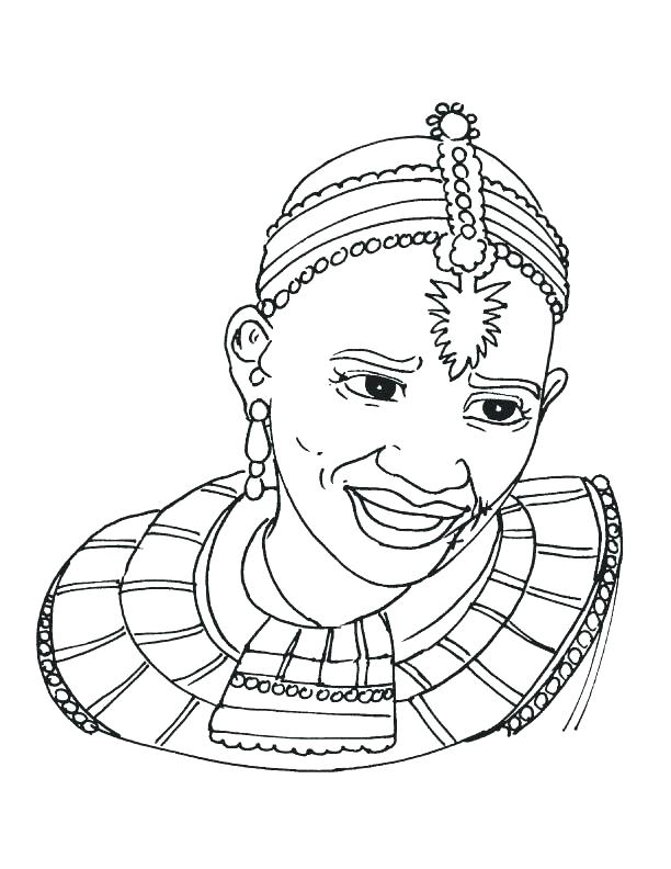612x792 African Mask Coloring Pages Drawing Of Colouring Pages Page 3