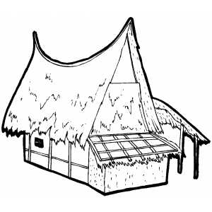 300x300 Hut Coloring Pages