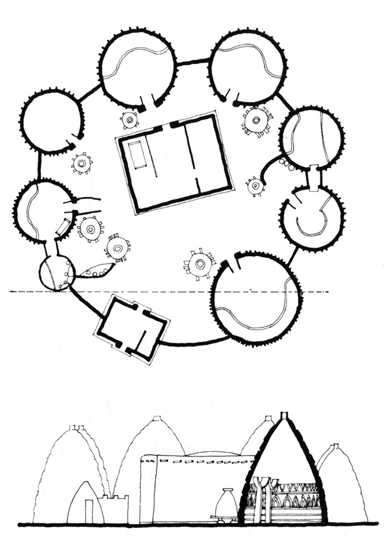 800x1145 Musgum Mud Huts Architecture, Architectural Sketches