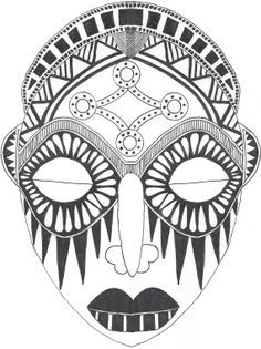 236x315 Printable African Mask
