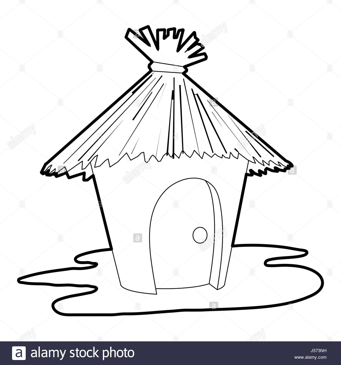 1300x1390 Straw Hut Black And White Stock Photos Amp Images