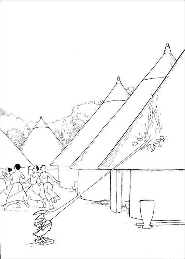 607x850 Village Drawing For Kids, Coloring Pages, Reading Amp Learning