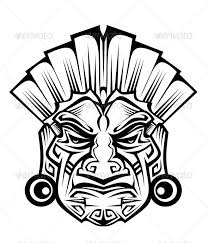208x243 Tribal Masks Drawings