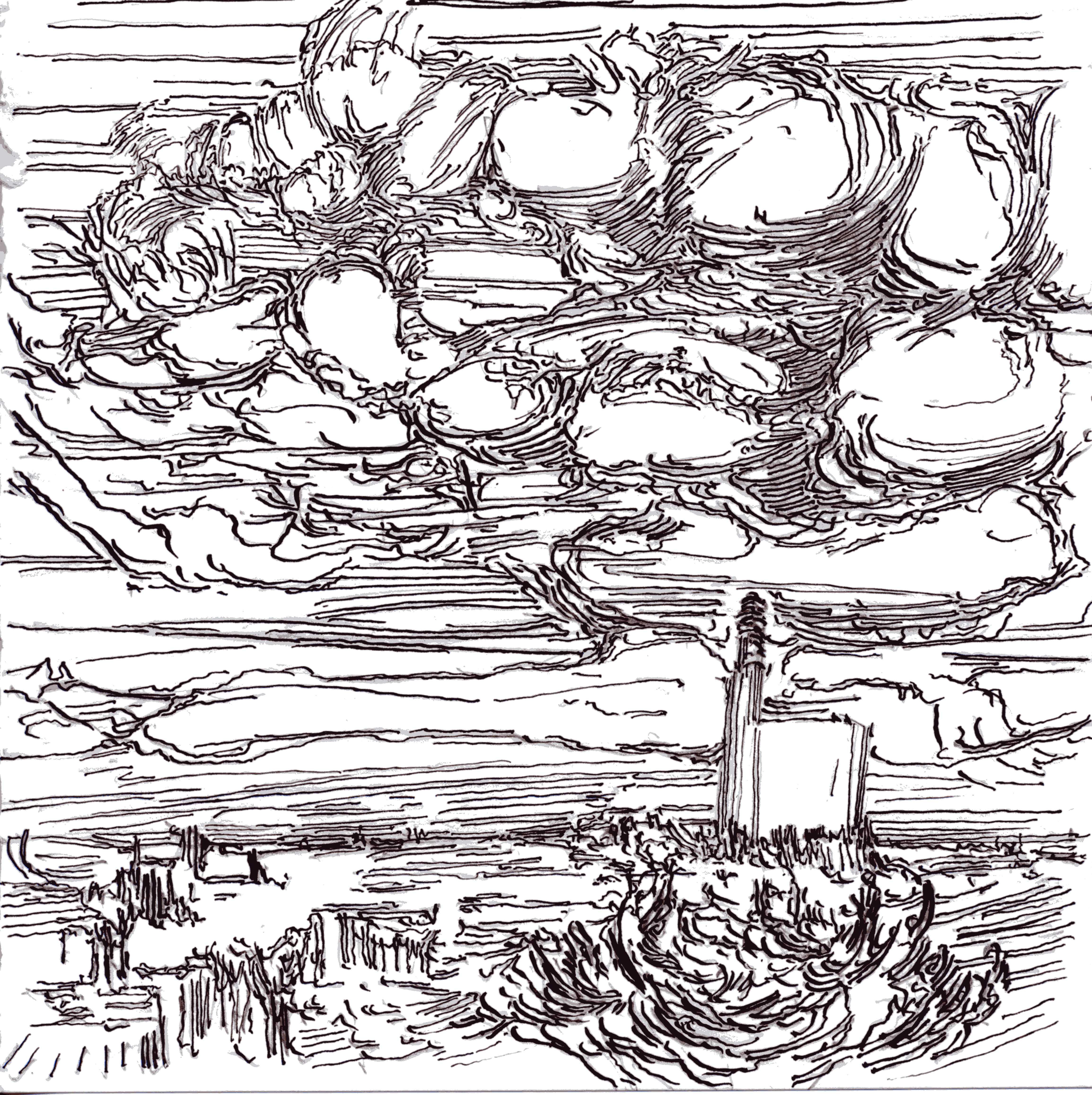 4617x4628 Drawings Landscapes Cornwall 2012 Whitemarkarts