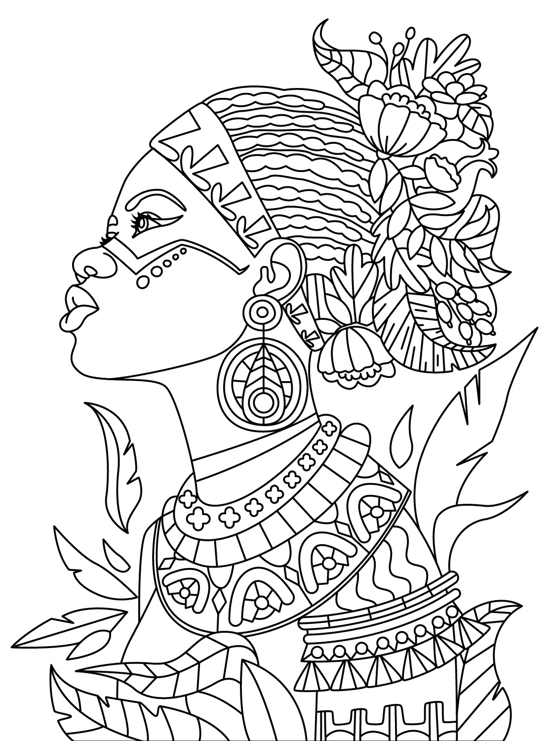 1116x1499 African Colorish Coloring Book App For Adults Mandala Relax By