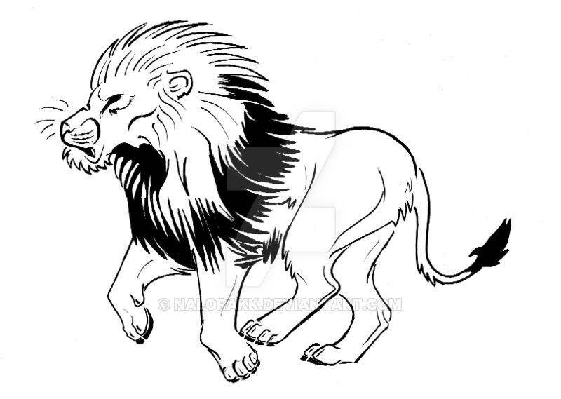 800x569 African Lion Tattoo By Nalorakk