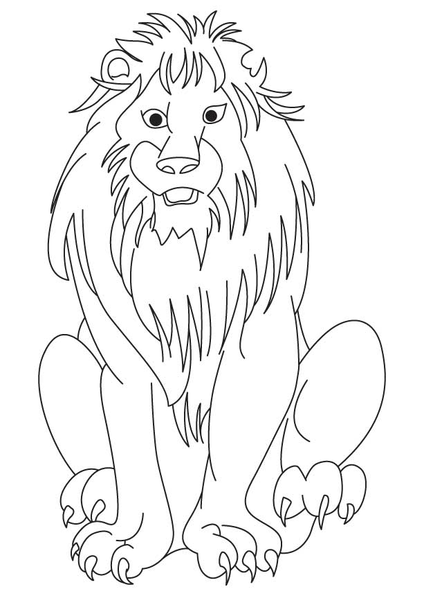 613x860 African Lion Coloring Page Download Free African Lion Coloring