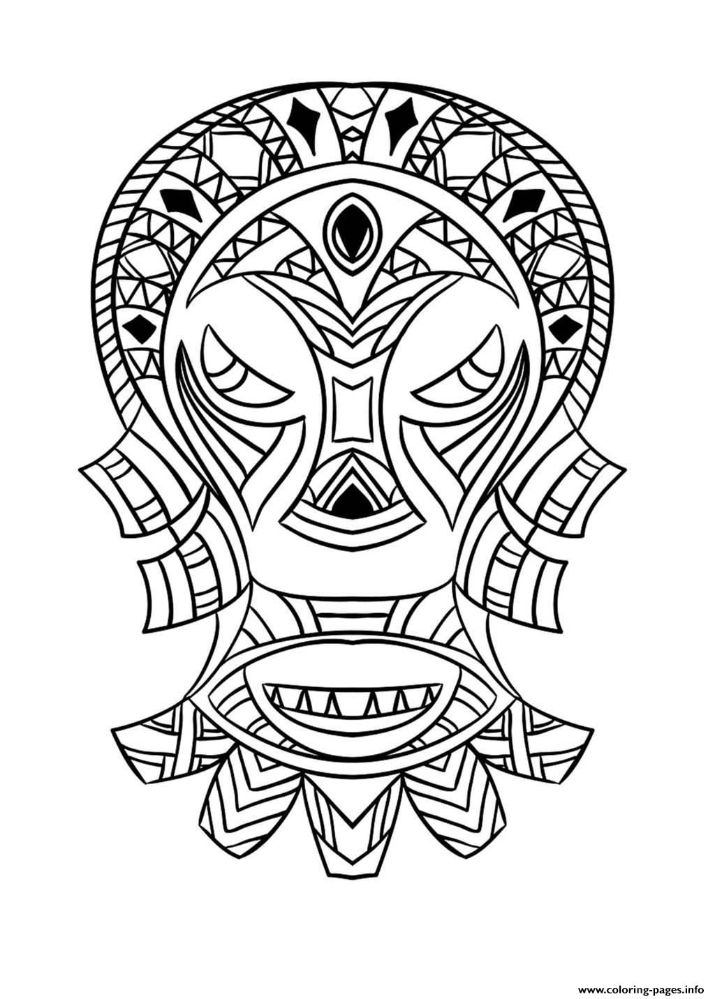 1024x1432 Adult African Mask 4 Coloring Pages Printable