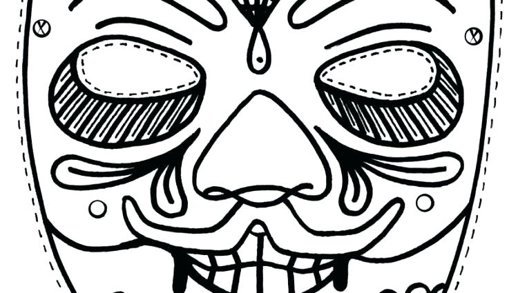 750x425 African Mask Coloring Pages Mask Template Google Search African