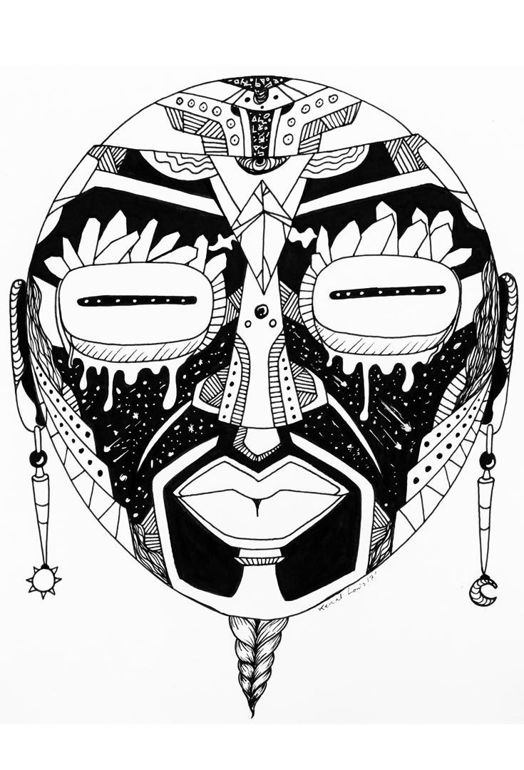 735x1080 African Artwork The Most Creative African Mask Art Collection