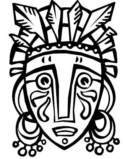 428x554 African Tribal Mask Template African Mask From Coloring Book