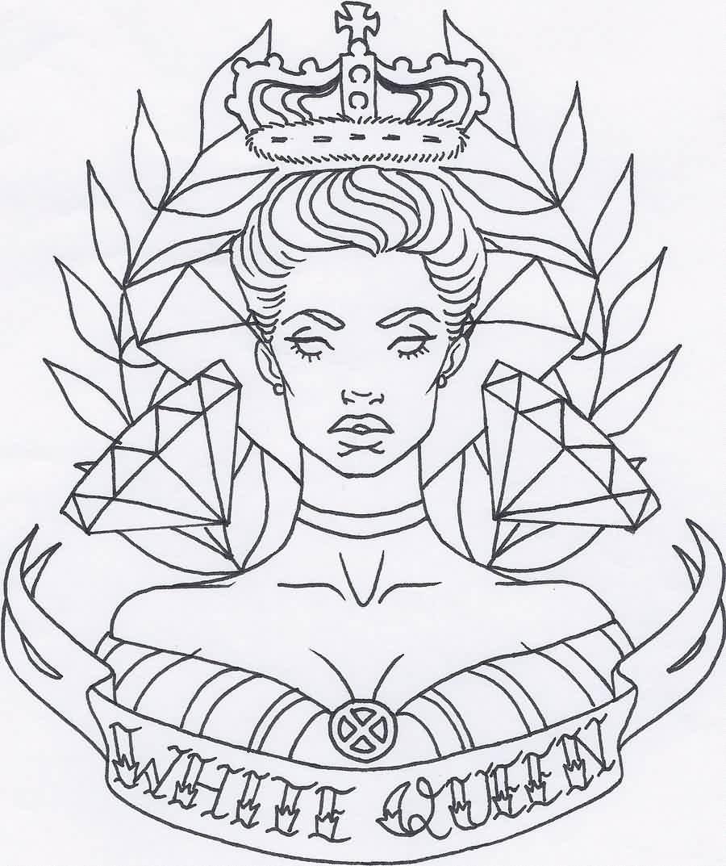 African Queen Drawing