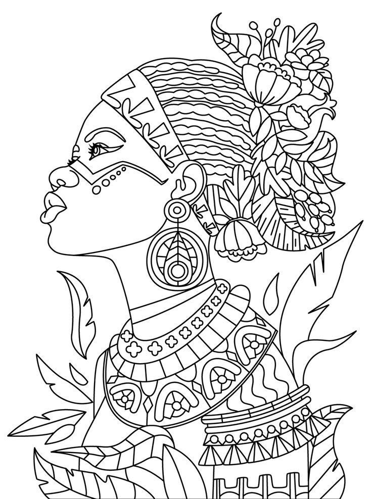African Queen Printable Coloring Pages