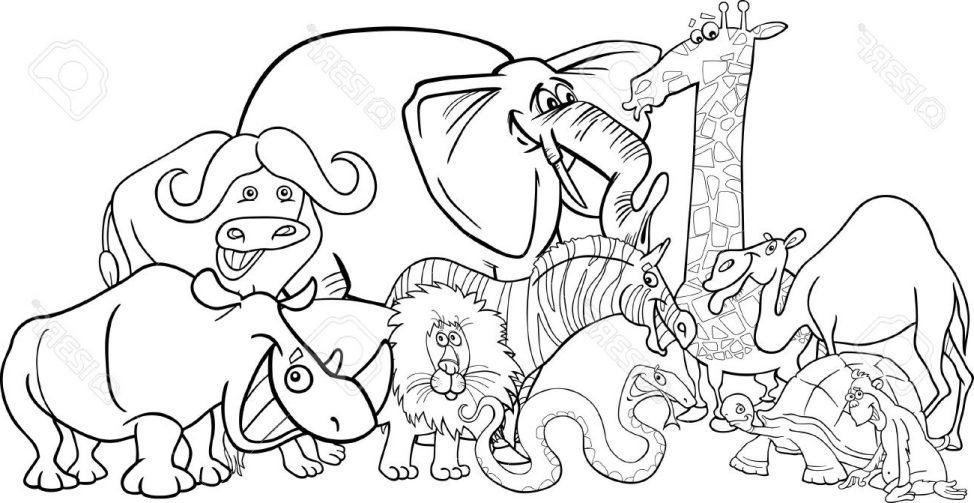 974x503 Coloring Pages Drawing Safari Animals Drawing In Colour Safari