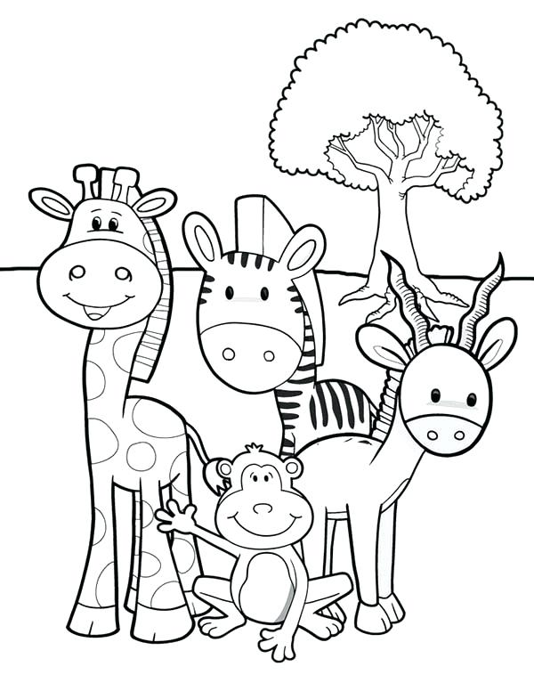 African safari drawing at free for for African safari coloring pages