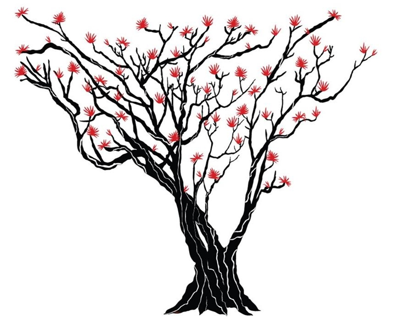800x653 Japanese Maple Tree Wall Decal Tree Wall Decals