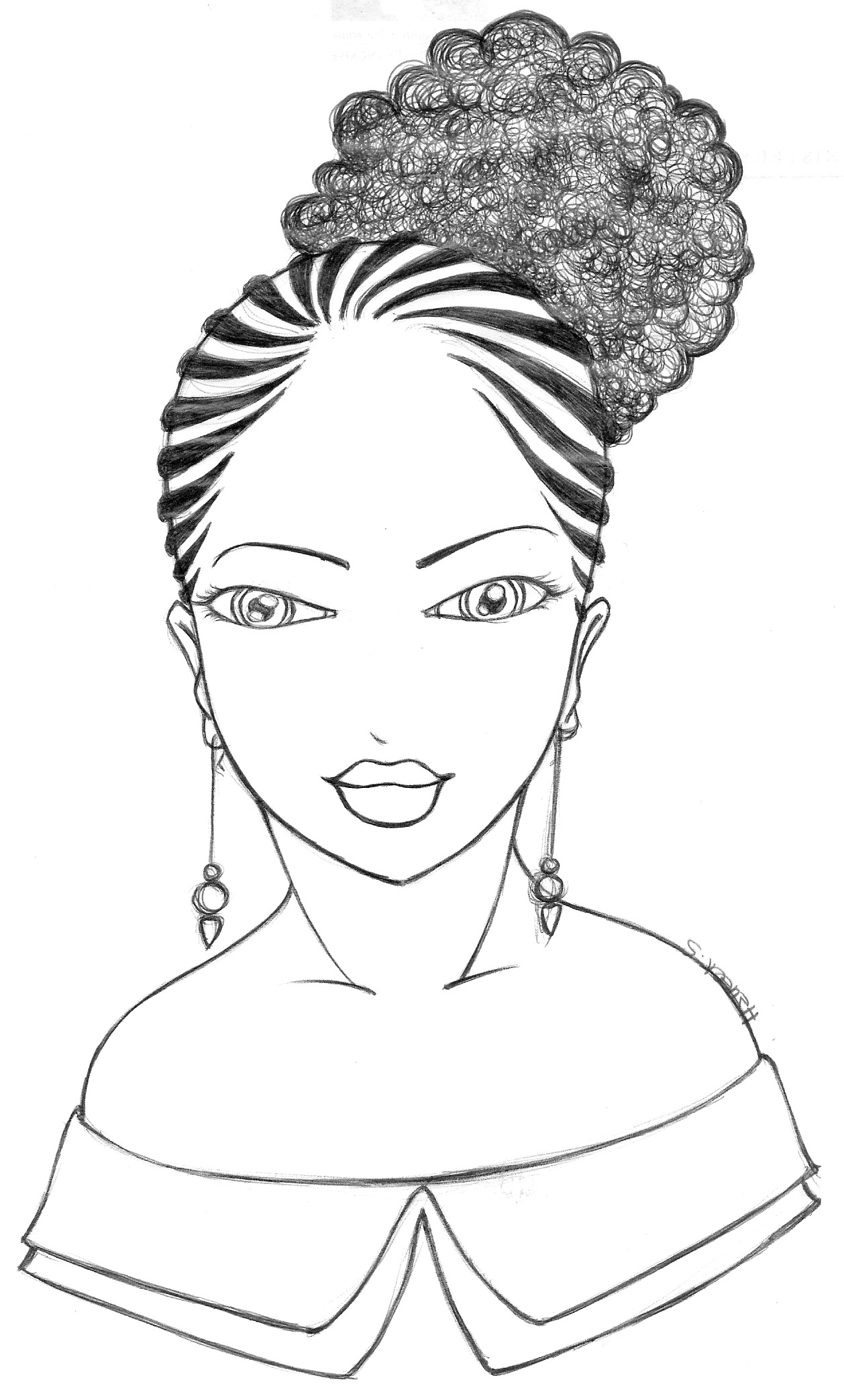 African Woman Drawing at GetDrawings | Free download