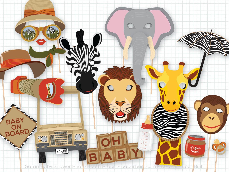 1500x1125 Safari Baby Shower Photo Booth Props Boy Baby Shower Boy