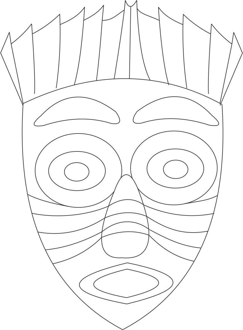 Africmasks Drawing