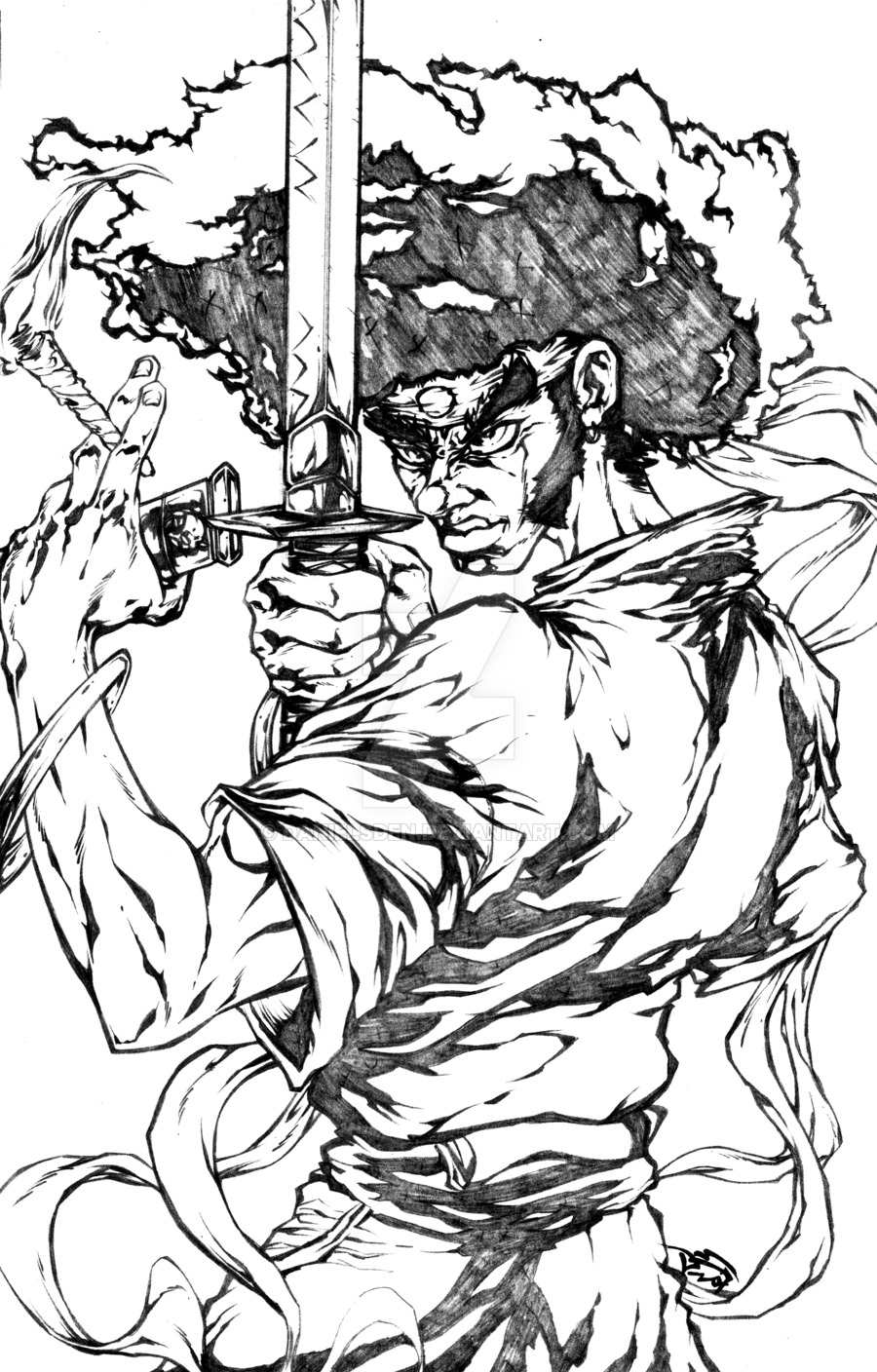 900x1408 Afro Samurai This Man Knows No By Danielsden