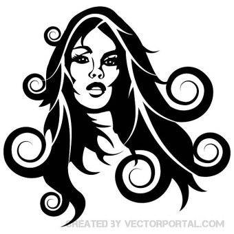 340x340 Afro Hair Girl Free Vector 123freevectors