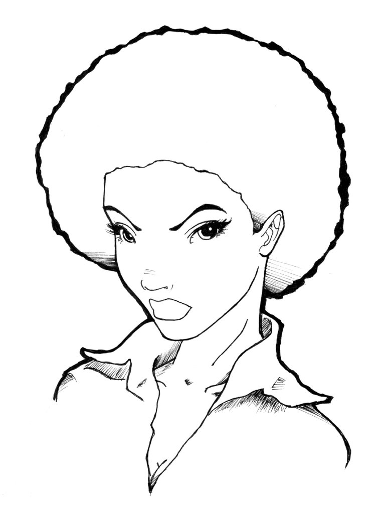 768x1041 Original Afro Lady By Obajoo