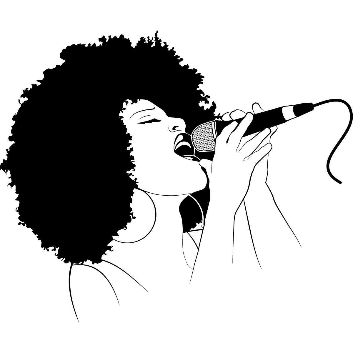 1200x1200 Female Singer Wall Art Sticker 05 2 Dynamic Music Therapy