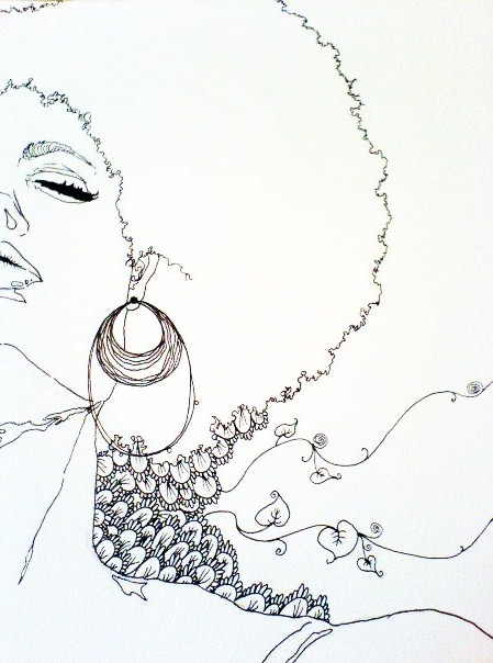 449x604 Afro Girl By Llanita