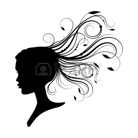 450x450 Vector Woman With Flowers In Hair Royalty Free Cliparts, Vectors