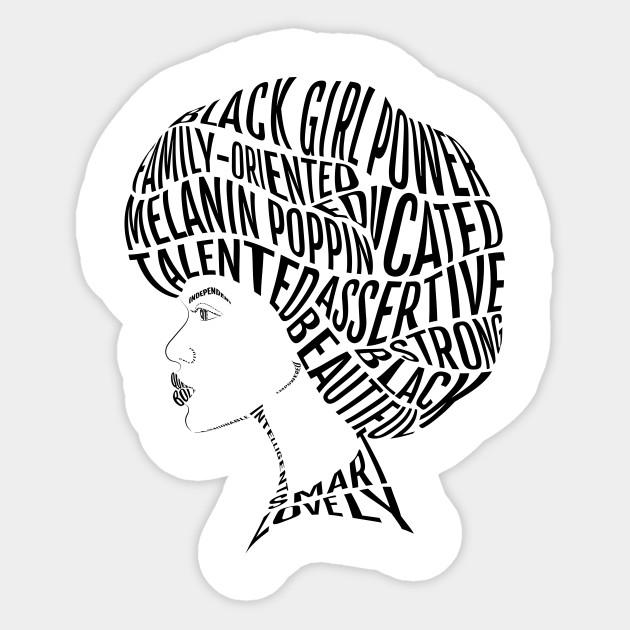 630x630 Afro Hair Word Art Design