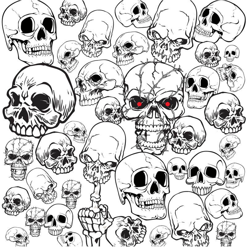 800x800 Set Of Vector Skull Illustrations And Templates For Your Tattoo