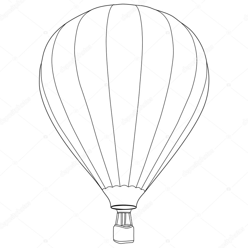 Air Balloon Drawing