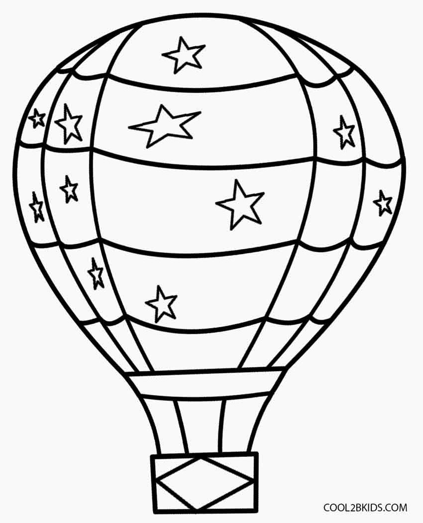850x1050 Great Balloon Coloring Page Printable Hot Air Free Pages Kids
