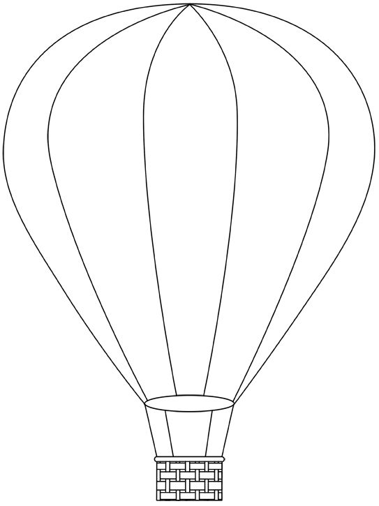 543x725 Hot Air Balloon Printable Digital Images From Birds Cards