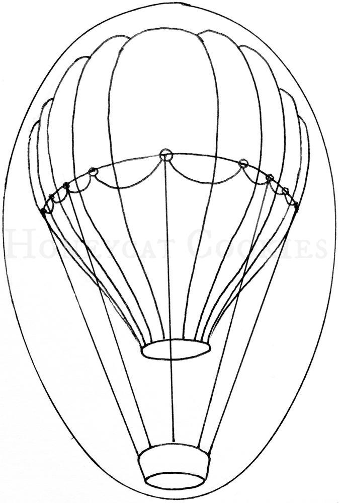 676x999 What's New, Honeycat Hot Air Balloons In The Sunset Cookie