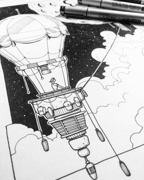 500x625 Hot Air Balloon Drawings Tumblr