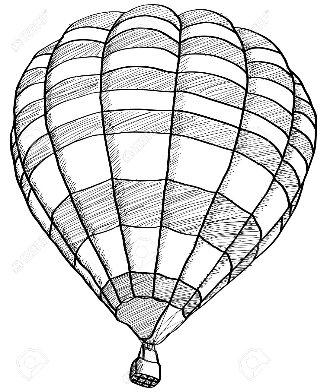 1083x1300 Drawing Of A Hot Air Balloon Drawn Hot Air Balloon Sketch