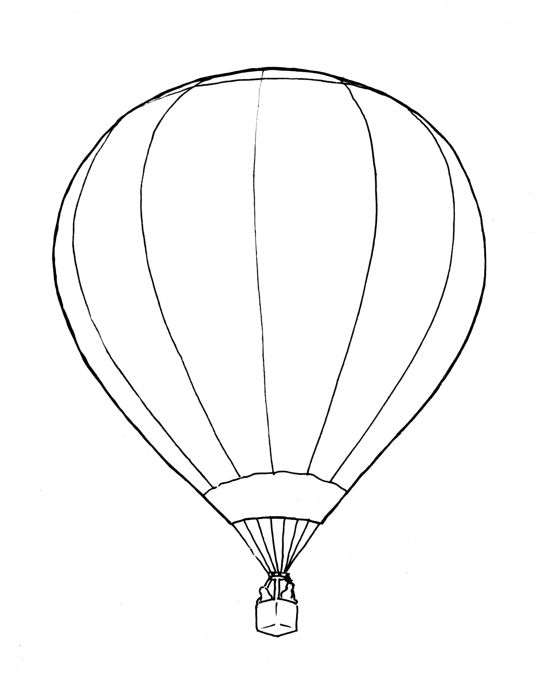 1829x2323 Drawing Of Hot Air Balloon Hot Air Balloon Basket Drawing