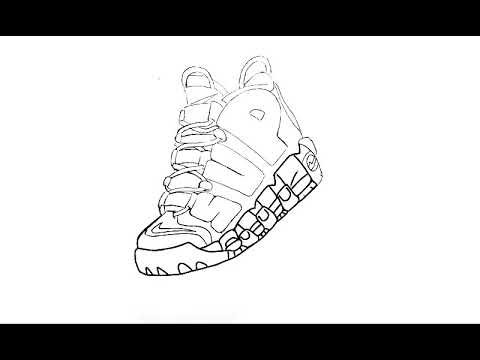 480x360 Supreme X Nike Air More Uptempo Speed Drawing