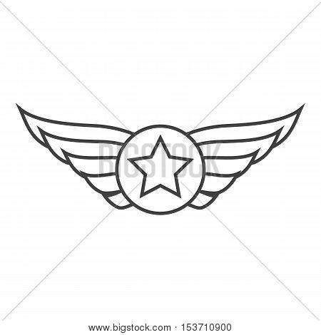 450x470 Aviation Outline Emblem, Badge Vector Amp Photo Bigstock