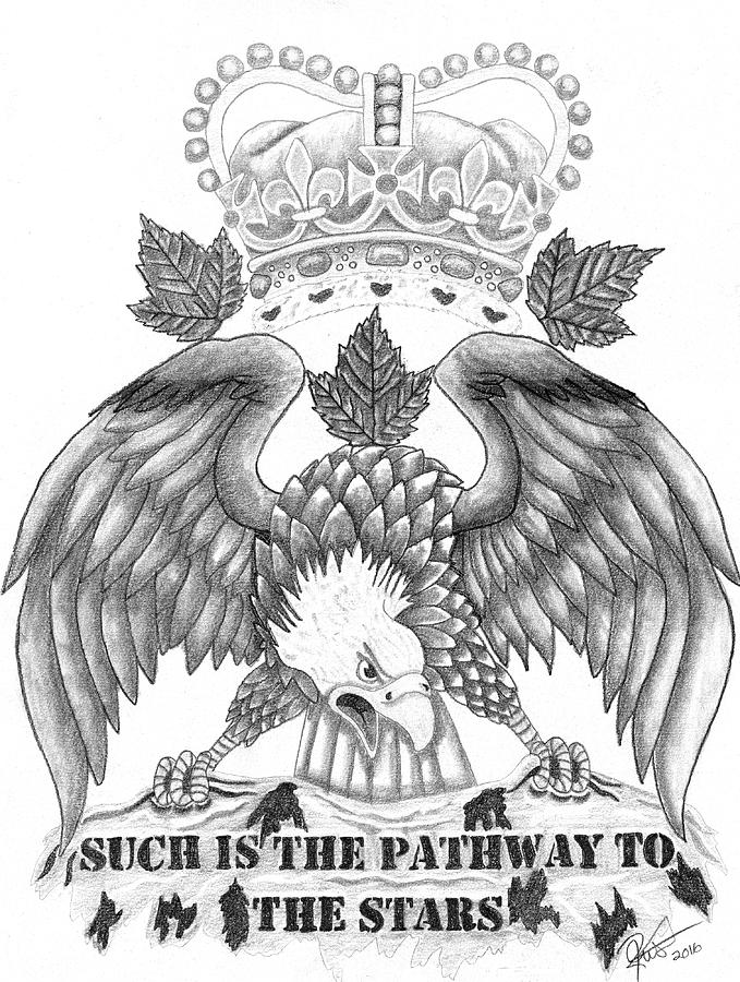 679x900 Canadian Airforce Tribute Drawing By Joce Ruston