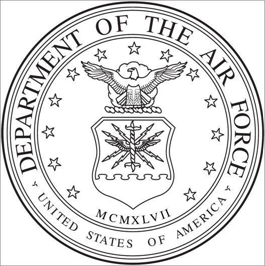 527x528 Laser Cut Air Force Emblem 3 Steps