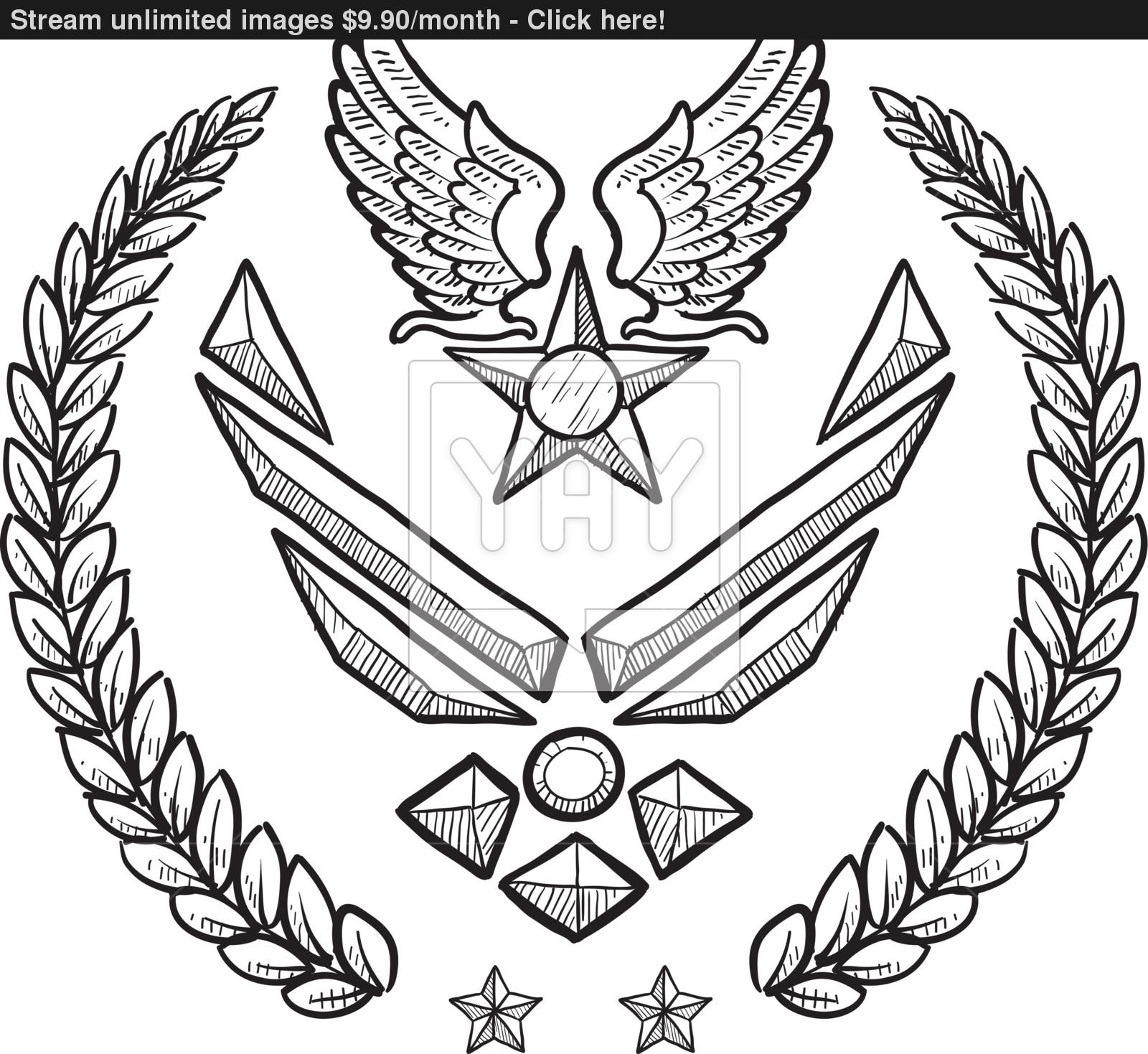 1600x1469 Us Air Force Vector Insignia Vector