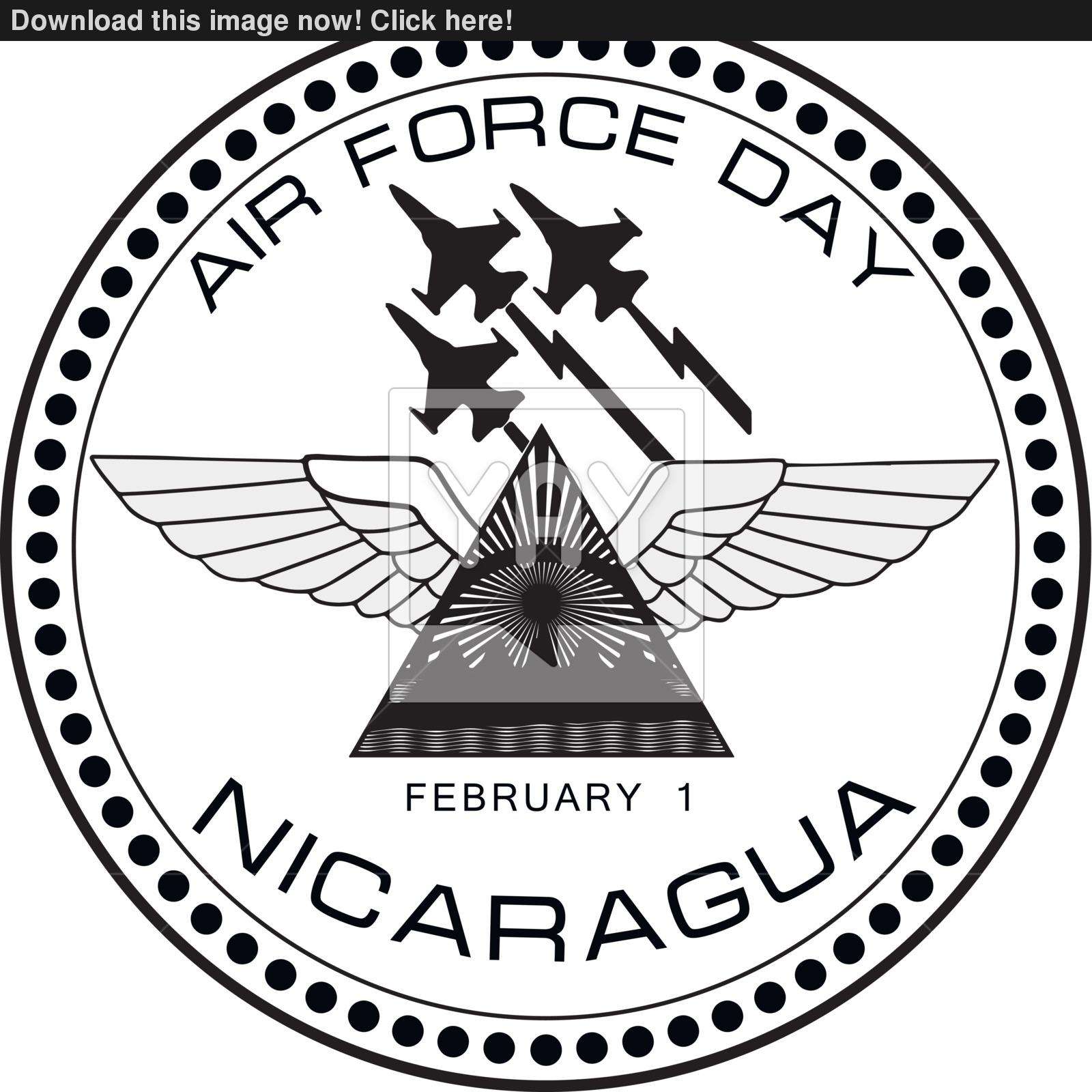 1600x1600 Air Force Day Nicaragua Vector