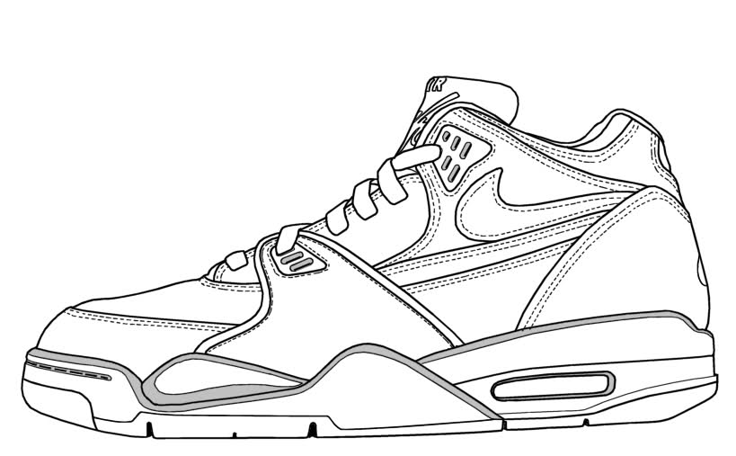 819x507 Basketball Shoes Coloring Pages