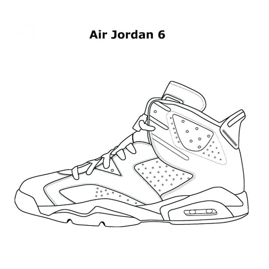 863x863 Easy To Make Shoes Coloring Sheets Jordan Retro 13 Pages Free 6