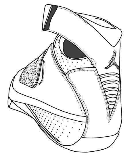 480x540 Jordan 14 Drawing