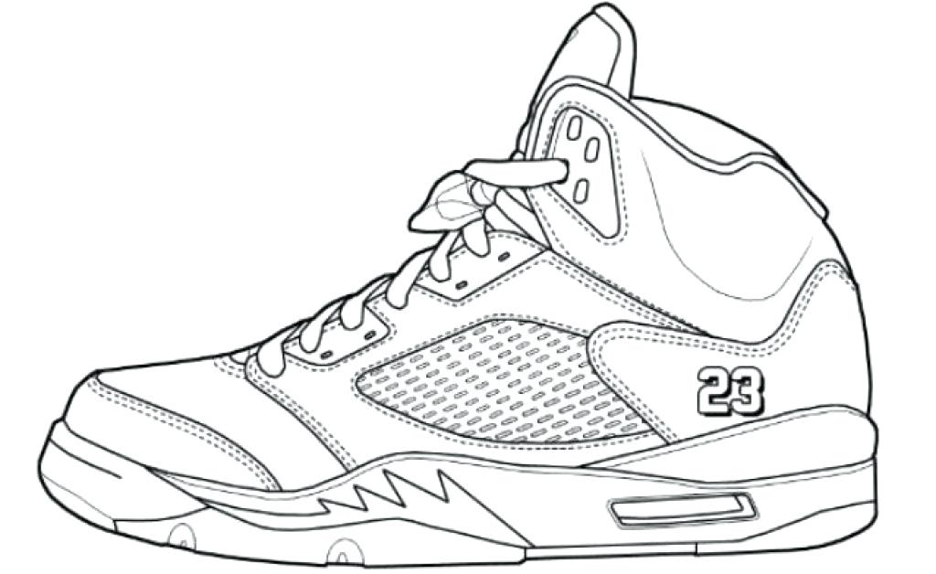 1024x628 Jordan Shoes Coloring Pages Adult Air Logo Shoes Medium Size